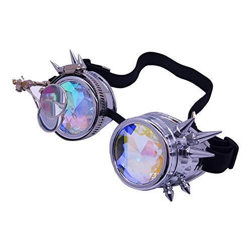MoMo Honey Steampunk Brille , Rivet Eyewear Brillen Sonnenbrillen, Retro Vintage Gothic Linsen für Decor Festival Party Rolle Cosplay Favor Unisex Spielzeug