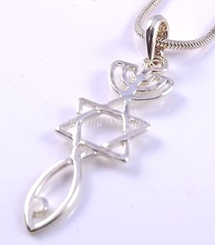 Messianic Seal Necklace Hebraic Roots Pendant Gold Grafted - Comes with a free gift pouch