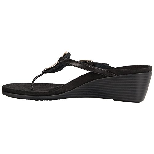 Vionic Womens 380 Orchid Park Leather Sandals Black