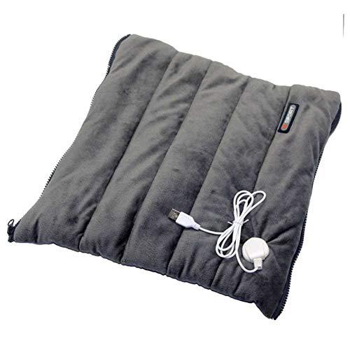 Elektrische heizung Sitzkissen, USB Beheizt Die Hand wärmer Falten Pad sitzpolster, Sichere Kissen-Grau 41x41cm(16x16inch)