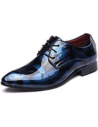 ailishabroy Zapatillas de Hombres de Cuero de Ante de Cuero Genuino Para Hombres Aumento de La Altura de Zapatos Para Hombre (43, Negro)