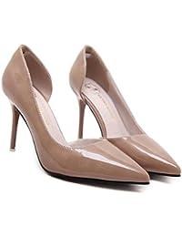 Pompe 8.5cm Scarpin pointé Toe D'orsay Talons hauts Chaussures de mariage Chaussures de mariage Chaussures de cour Taille 34-40
