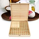 CHSEEO Ätherisches Öl Display Box Halter Organisator Aufbewahrungsbox 85 Löcher Holzbox Kann Nagellackständer für Nagellack, Lippenstift, Duftöle und Ätherische Öle #7