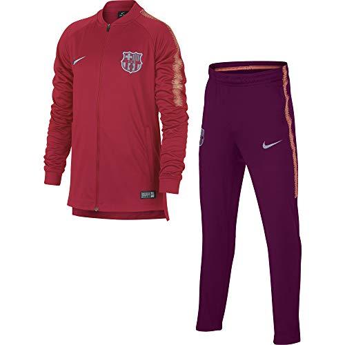 Nike FCB und Nk Dry Sqd TRK K Trainingsanzug, Unisex Kinder XL rosa (Tropical pink/deep Maroon/lt Atomic pink) (Barcelona Nike Rosa)