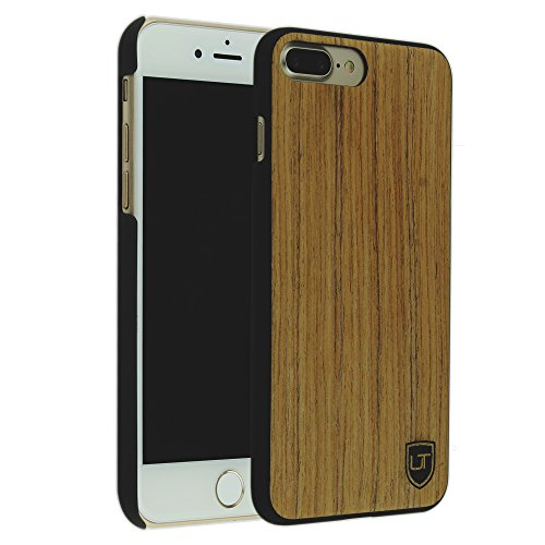 iPhone 7 Plus / 8 Plus Holzhülle Cover ** Eco Echt Holz - Ultra-Slim ** Einzigartiges Desgin ** Perfekte Passgenauigkeit ** Woodcase by UTECTION® in Abachiholz (Iphone 4 Body Armor Hybrid Case)