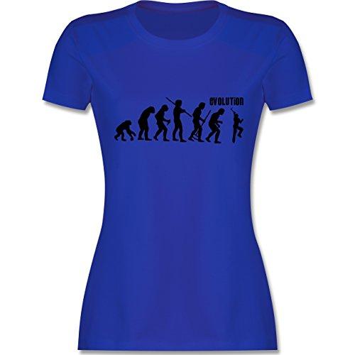 Evolution - Klettern Evolution - tailliertes Premium T-Shirt mit  Rundhalsausschnitt für Damen Royalblau