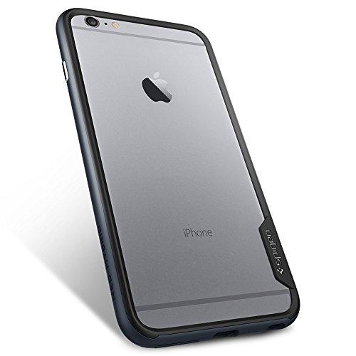"""Spigen Bumper iPhone 6 Plus (5,5"""") [Bumper] Coque Bumper pour iPhone 6 Plus (5,5"""") [Neo Hybrid EX] [Dante Red] Protection bumper double couche pour iPhone 6 Plus (2014) - Dante Red (SGP11058) Métal Slate"""