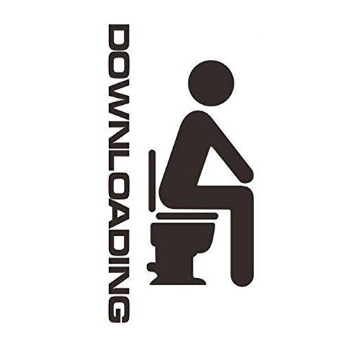 -Homeworld- Lustiger Toiletten-Aufkleber Downloading. Großer Sticker für die WC-Tür/Badezimmer-Tür. #24