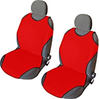 CSC401 - T-Shirt maglietta Schienali cuscino del sedile auto , copertura di sede dell'automobile , Seggiolino Auto Protector , Coprisedili Rosso (1 coppia)