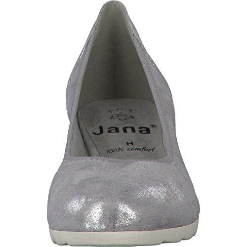 Donna scarpa décolleté GREY/SILVER argento, (GREY/SILVER) 8-8-22204-28/212 grau