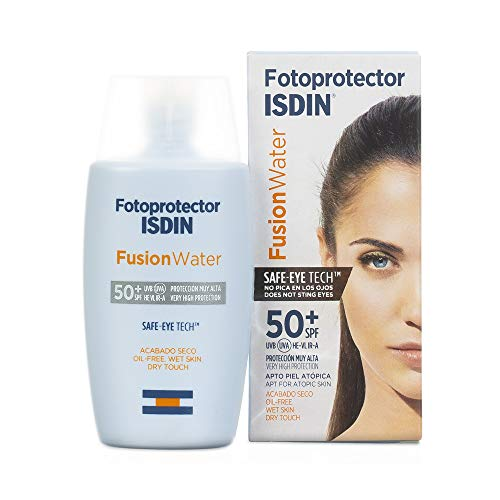 Isdin Fusion Water - SPF 50 + Daily Facial Photoprotectant with water based anti-aging ingredients and antioxidants, 50 ml