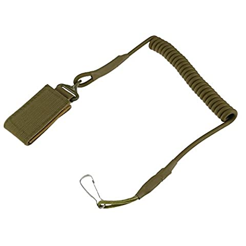 YCNK Molle Tactical Multipurpose Fastener Pistol Lanyard Coiled Wire Secure