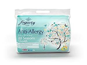 Fogarty Fresh Sleep Anti Allergy All Seasons 13.5 Tog Duo Duvet, Single