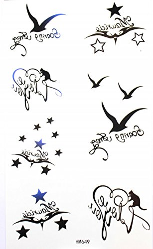 Tatouages Etoiles Oiseau