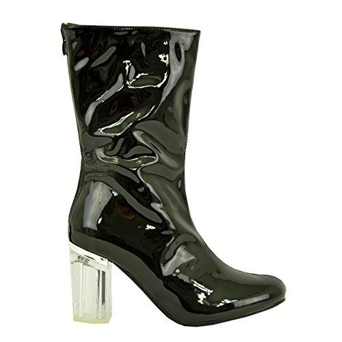 Cucu Fashion - Sandali con Zeppa donna black patent
