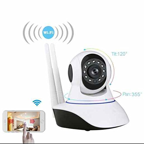 720P Wlan Dome ip kamera Remote PTZ Steuerung,intelligente Rauschunterdrückung,integrierte IR LED,24 Stunden Überwachung bei Tag und Nacht,True Color Display,Kindermädchen kamera (Remote-dome-kamera)