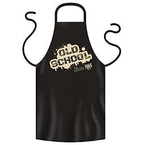 OLD SCHOOL SINCE 1965 - Coole Grill- oder Kochschürze als Geschenk zum Geburtstag. Lustige Geschenkidee. Schwarz