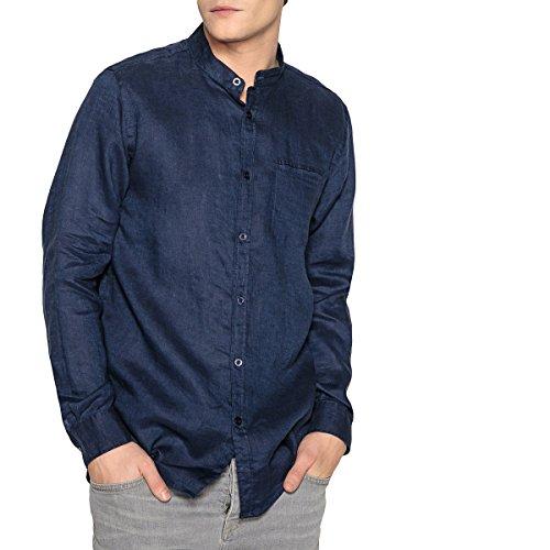 La redoute collections uomo camicia regular in lino collo alla coreana xxl