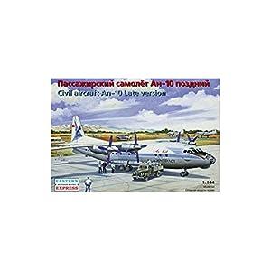 """Ark Models EE14485 - Escala 1:144 """"Antonov An-10A Rusa Haul Passenger Aircraft/Late Version Modelo de plástico (tamaño Mediano)"""