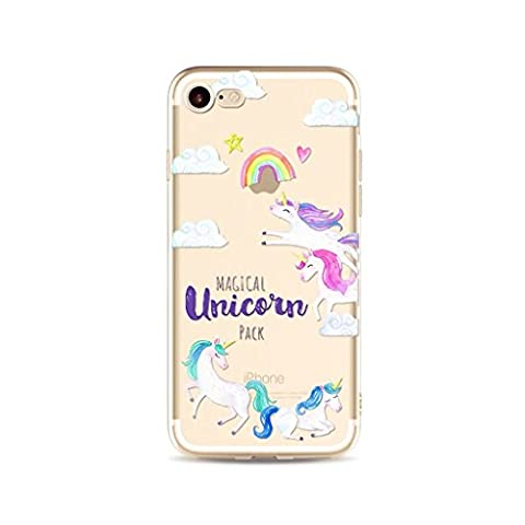 iPhone 6/6S MUTOUREN case cover?Ultra-Thin Premium TPU / Transparent / Exact Fit / Virtually Premium Cell Phone Shell Protective Shock-Absorption non-slip cover-unicorn 19