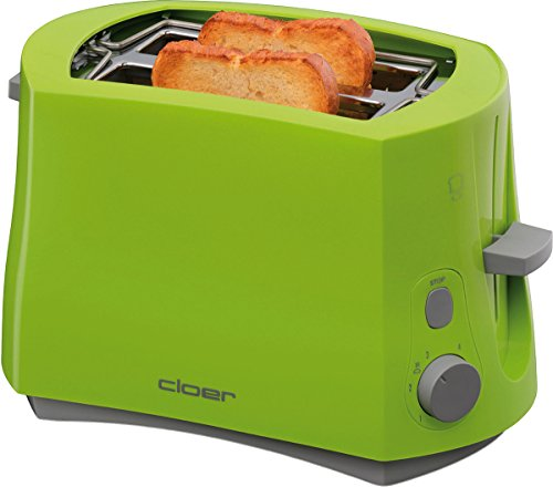 Cloer 3317-4 Toaster in grün, Kunststoff