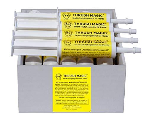 Thrush Magic Strahlpflege für Pferde - Starke Pflege bei Strahlfäule - Hufpflege - Hufpaste - einfache Anwendung Hufhorn Horn Hufkrebs Fäulnis Huf-Strahl Huffäule Strahlfäulemittel - 10er Pack -