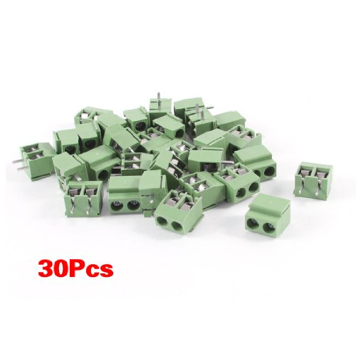sodialr-30pcs-2-pole-5mm-pitch-pcb-mount-screw-terminal-block-8a-250v