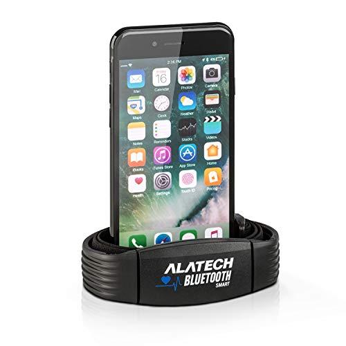 Capital Sports Alatech CS010 Pulsband Brustgurt zur Herzfrequenzmessung (Pulsmesser, Bluetooth 4.0, IPX7, Schnellverschluss, Unisize) schwarz