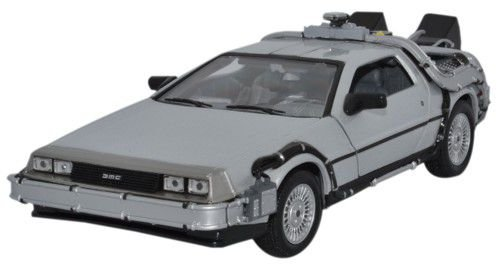 Collectors Welly - Maqueta del Delorean de Regreso al futuro I (escala: 1/24, metal)
