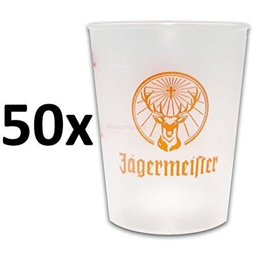 Jägermeister Shotgläser aus Kunststoff 2/4cl - 50er Set