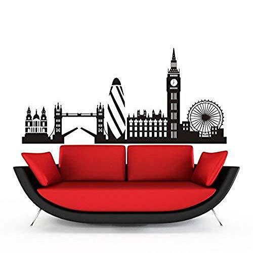 ljmljm Schwarz 58x127cm London Big Ben London Eye City Gebäude geschnitzt dekorative Wohnkultur Aufkleber -