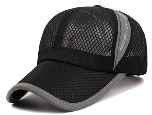 G7Explorer Mesh Speed Drying Breathable Running Cap Only 2.3 Ounces (Black)