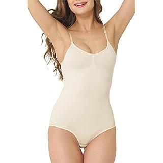 UnsichtBra Damen Shapewear Bauch Weg Body, Shape Bauchweg Unterwäsche mit Korsett - Funktion (sw_0800) (S (36-42), Beige)