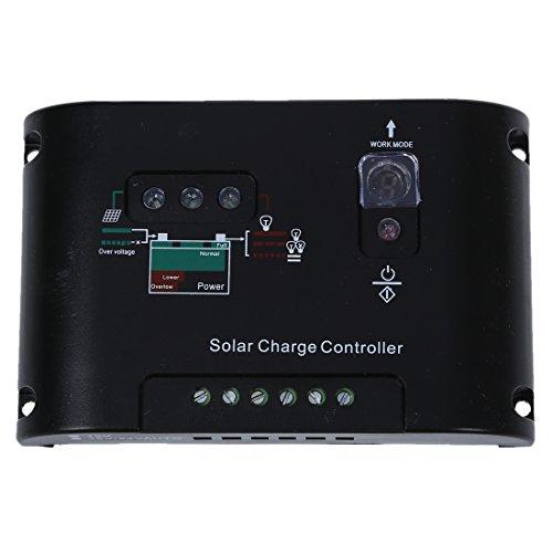 SODIAL(R) 15A Solarladereglerue2V/24V Solarmodul Solarpanel Laderegler PWM Solar Panel Batterie Regulator