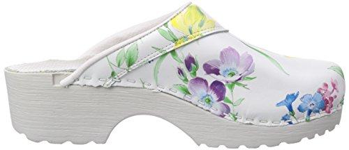 Gevavi  390 BIGHORN Flexible, Mules femmes Blanc - Weiß (weiss(bloem) 91)