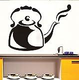 Hwhz 44X32 Cm Dämpfen Cafe Wasserkocher Wandaufkleber Abnehmbare Wasserdichte Vinyl Aufkleber Tapete Für Küche Diy Wohnkultur