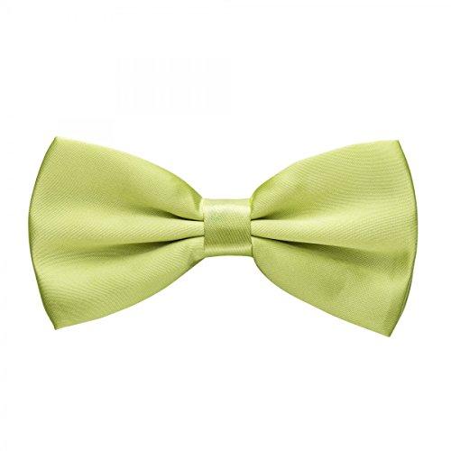 Rusty Bob - Fliege in Uni - Schleife gebunden und verstellbar (12cm x 6,5cm) - für die Hochzeit, die Konfirmation, zum Anzug oder Smoking - (Frack Grüne)