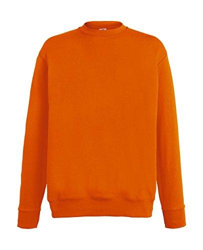 Fruit of the Loom Herren Sweatshirt Lightweight Set-in Sweat Orange