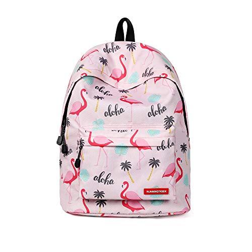 Gdtime Unicorno Zaino Scuola Borse Leggero Zaino Casual per Ragazzi Adolescenti Ragazze (Rosa2)