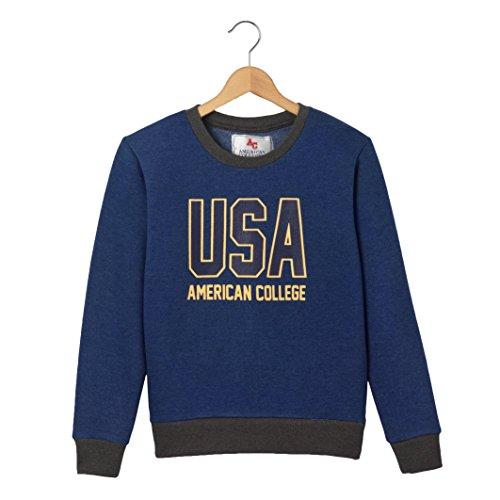 American College Bambino Felpa 10 16 Anni Taglia 150 Blu