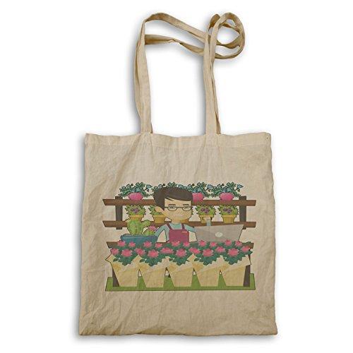 Negozio di fiori online felice tote bag q560r
