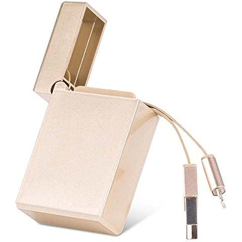 thanly portatile retrattile a forma di accendino Lightning USB di