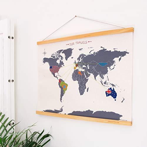 SUCK UK Kreuzstich-Weltkarte