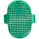 ST Pet Dog Cat Puppy Cow Buffalo Horse Hand Bath Glove Grooming Brush Adjustable (Green)