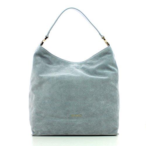 Coccinelle Arlettis Suede Shopper Leder 35 Cm Iris