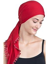 Quadratische Schals und Blumenrand Für Haarverlust, Krebs (1m X1m)