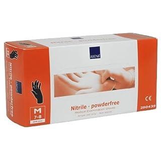 200 Nitril-Handschuhe ABENA in Größe M - schwarz, puderfrei