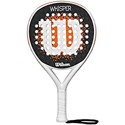 Wilson Whisper Paddle RKT WHOR - Pala de pádel, color blanco / naranja, talla única