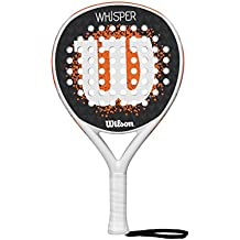 Wilson Whisper Paddle RKT WHOR - Pala de pádel, Color Blanco/Naranja, Talla