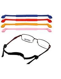 Foxnovo Sangle élastique pour lunettes en silicone anti-dérapant Noir 66b1235d0723